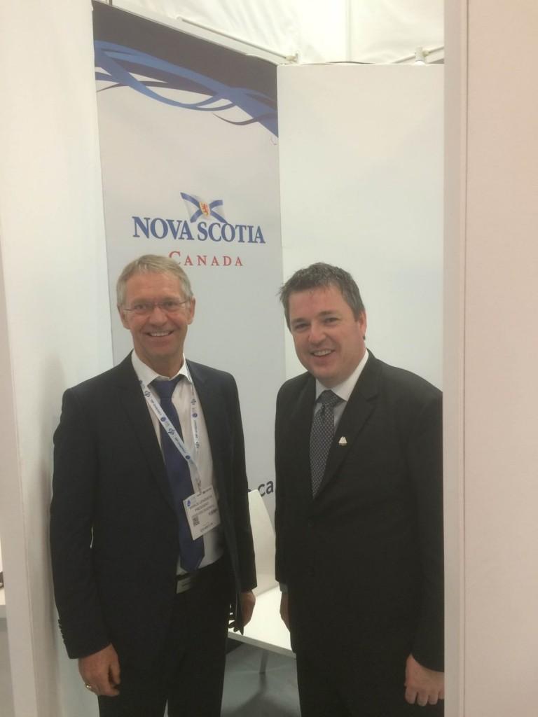 Marius Lengkeek meeting the Nova Scotia Energy Minister Michel Samson