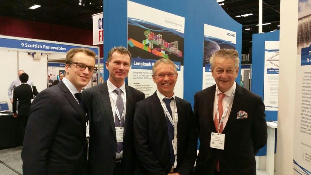 Marius and Rory alongside Kommer Damen and Leo Postma from Damen Shipyard Group.